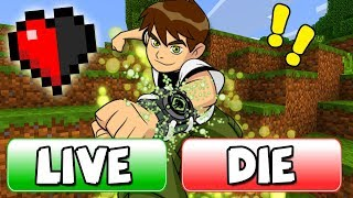 Download KILL OR SAVE BEN 10 BUTTON in Minecraft! 3Gp Mp4
