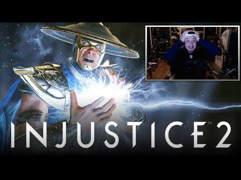 Injustice 2: Raiden & Black Lightning DLC Trailer REACTION! (Injustice 2: Fighter Pack 2 DLC)