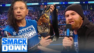 Sami Zayn unveils new Intercontinental Title for Shinsuke Nakamura | FRIDAY NIGHT SMACKDOWN