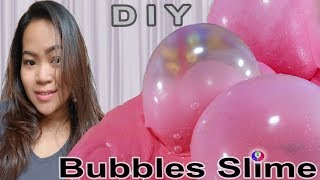 Making Pink Candy Bubbles Fluffy Slime | Super Miracle Bubbles Slime | Khmer Thai DIY Fluffy Slime