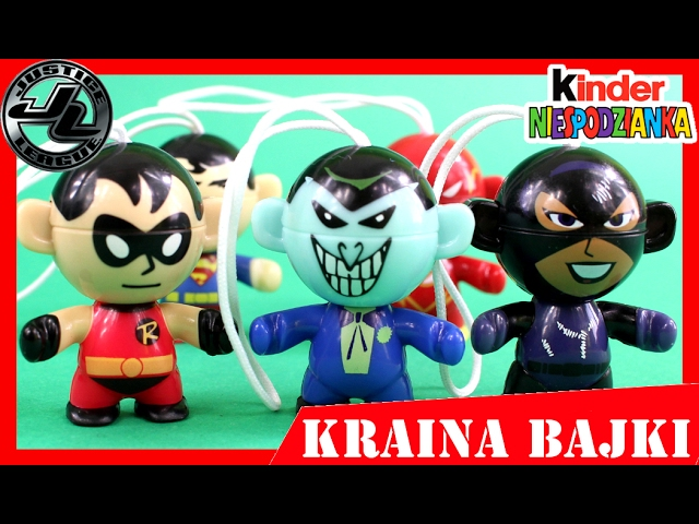 BATMAN VS SUPERMAN! SUPERBOHATEROWIE JUSTICE LEAGUE! KINDER NIESPODZIANKA x 6 UNBOXING