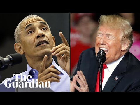 Obama v Trump: contrasting pitches as midterms loom