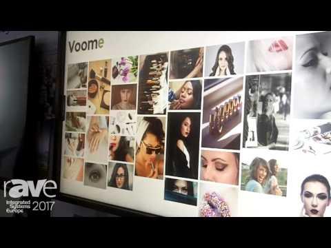 ISE 2017: Voome With LG webOS Smart Signage Platform