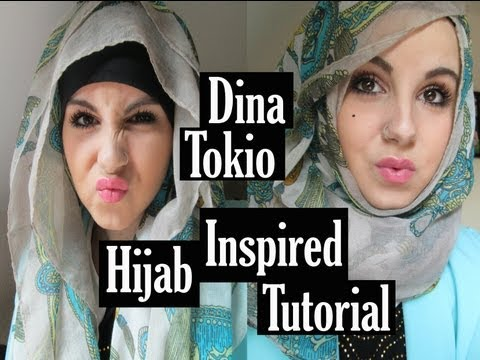 Dinatokio hijab inspired tutorial