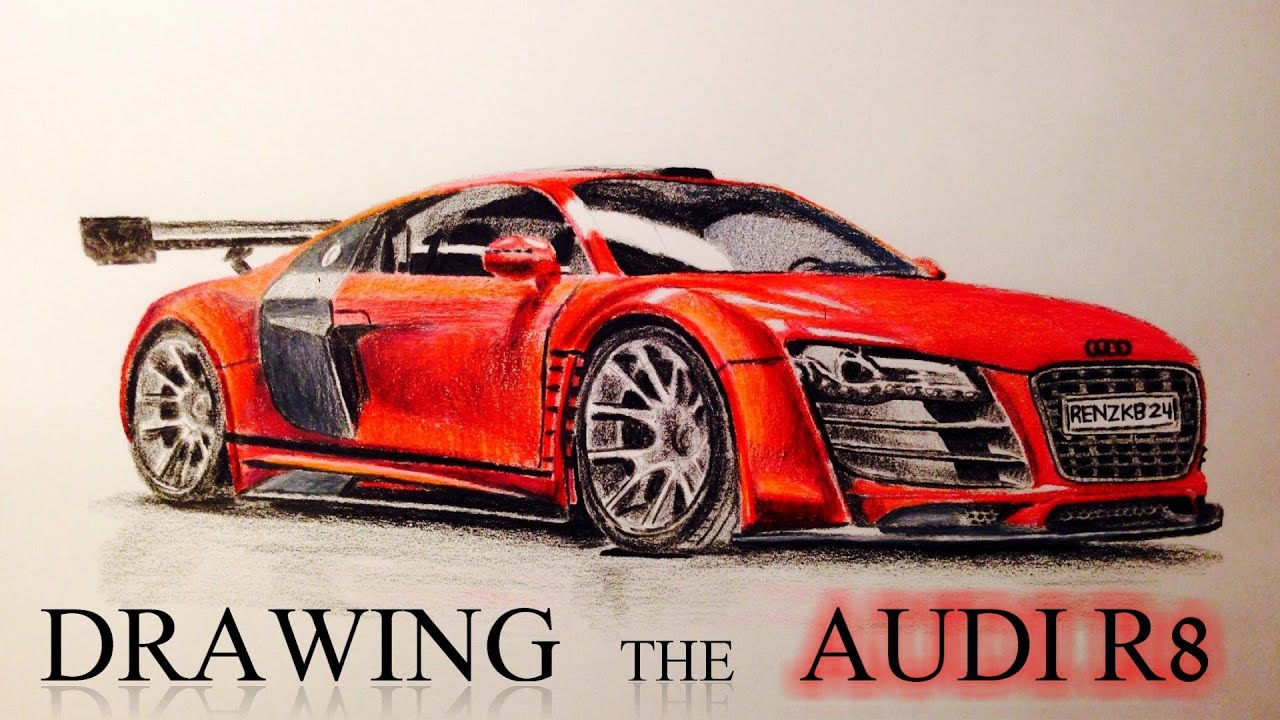 Drawing The Audi R8 Youtube