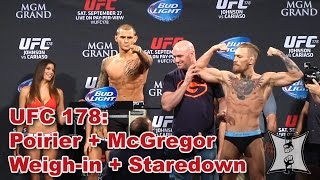 UFC 178: Conor McGregor and Dustin Poirier Weigh-in and Staredown