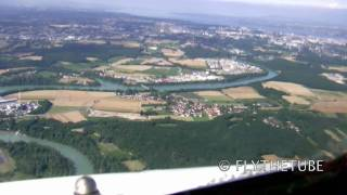 Visual Approach RWY 05 Geneva Cointrin Airport, GVA LSGG, HD Cockpit View
