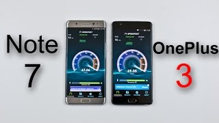Samsung Note 7 vs OnePlus 3 - Speed/Battery/Multitasking/ Heat Test Comparison Review! (Part 1)