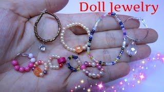 DIY Easy Miniature Doll Jewelry /Làm trang sức cho búp bê: handmade dây chuyền và vòng tay / Ami DIY