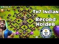 INDIAN TH7 RECORD HOLDER CLOSE TO LEGEND LEAGUE IN CLASH OF CLANS mp3