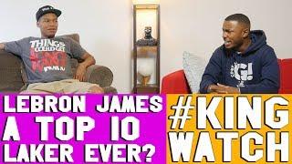 IS LEBRON JAMES A TOP 10 LAKER EVER ? | Hoops N Brews
