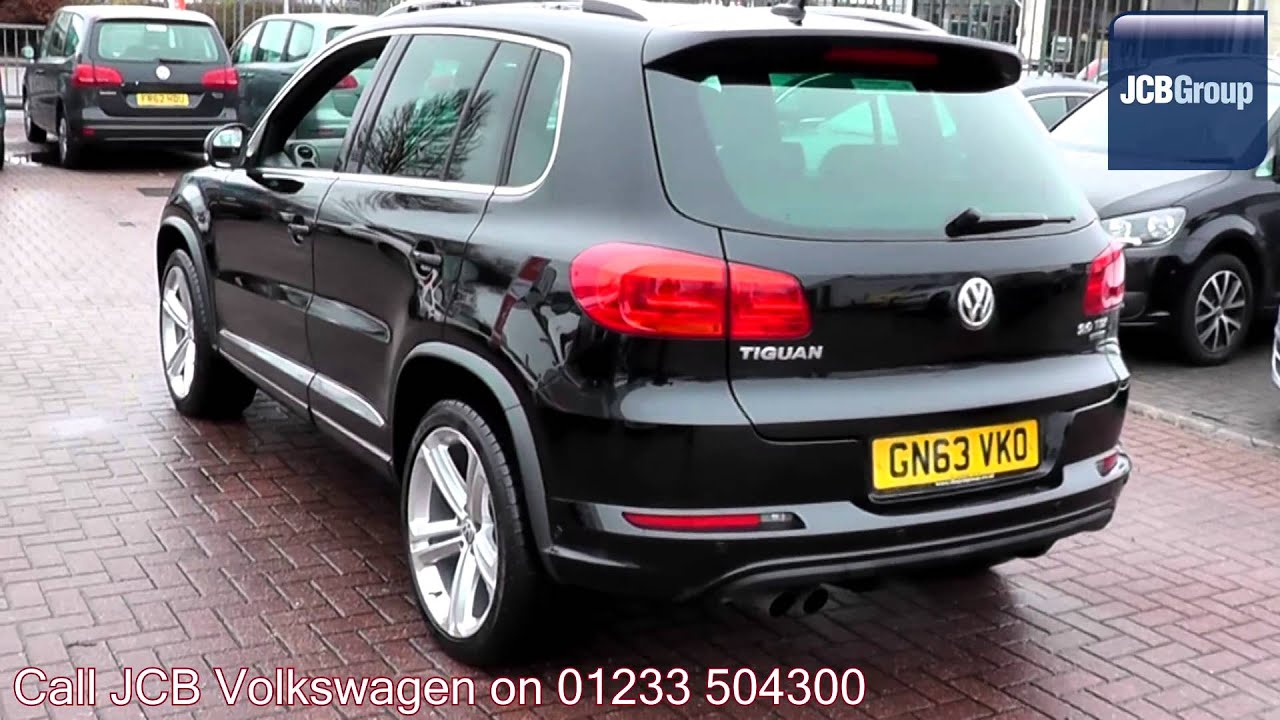 2013 Volkswagen Tiguan BlueMotion R Line 2l Black Pearl Effect GN63VKO for sale at JCB VW ...