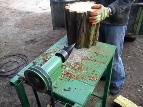 Świdrowa łuparka do drewna własnej roboty