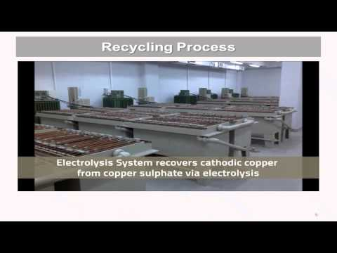Ewaste gold refining and recycling systems