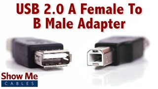 Easy To Use USB 2.0 A Female To B Male Adapter - Quickly Change Connection Types #3502