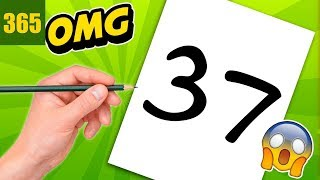 INCREIBLE TRICK WITH NUMBER 37 - TECKNING MED NUMBER 37