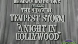 Something Weird A Night in Hollywood Starring Tempest Storm