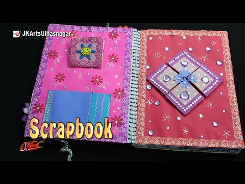 How to make a Scrapbook | DIY Easy Scrapbook from Spiral Notebook | JK Arts 1136