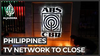 Philippines' largest TV network ABS-CBN forced to shut down
