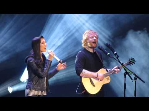 "Christina Perri and Ed Sheeran singing ""Be My Forever"""