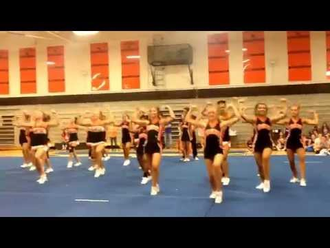 Davie County High School Cheerleaders at cheer camp.
