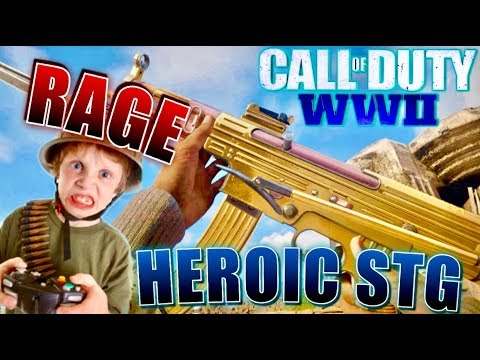 Call of Duty WWII Rant - He HATED on my V2 Rocket!!! HEROIC STG Class Setup