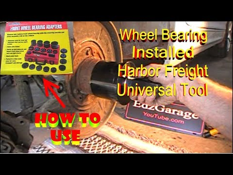 Wheel Bearing Install with Harbor Freight Universal Bearing Tool BMW 325i Rear Front