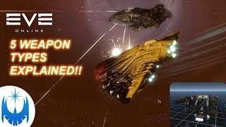 Eve Online's Five Weapon Types Explained!!