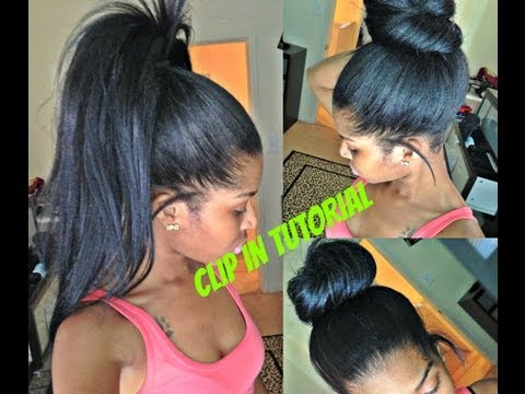 ✂High Ponytail and Bun with Clip ins ( No lumps!!)