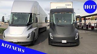 Tesla Semi trucks make a surprise Supercharger visit on way to Fremont factory