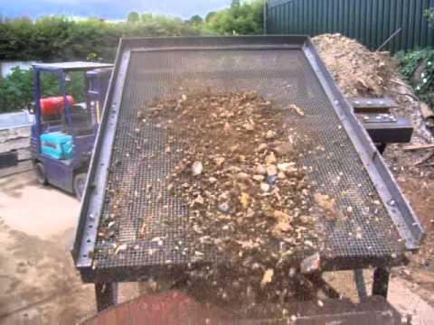 100 top soil screener ours at work movie 2 youtube for Topsoil screener