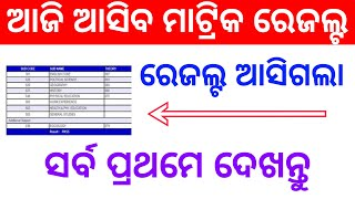 Odisha Matric Results Published Today Check Matric Results 10th Results Odisha