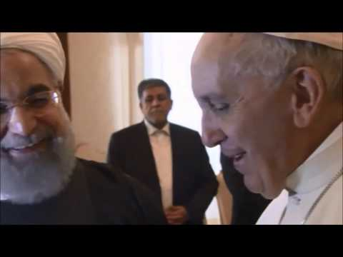 Jerusalem Post News: Iran's President Hassan Rouhani is welcomed by Pope Francis at the Vatican