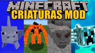 CRIATURAS MOD - Nuevos monstruo en tu maincra :V - Minecraft mod 1.12.2 Review ESPAÑOL