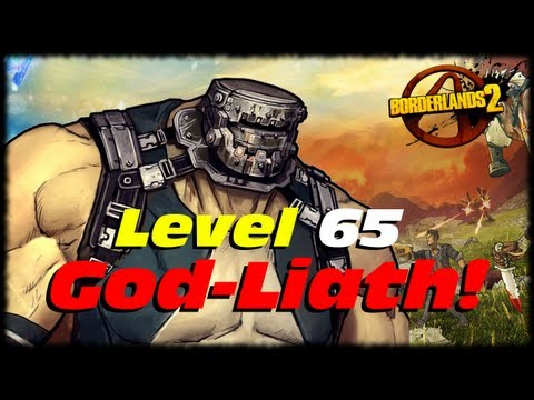 Borderlands 2 UVHM Level 65 God-Liath Goliath Evolution Transformation! Level 61 Krieg vs Godliath!
