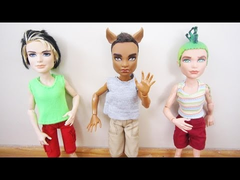 How to make shirts for Monster High male and Ken dolls - Recycling