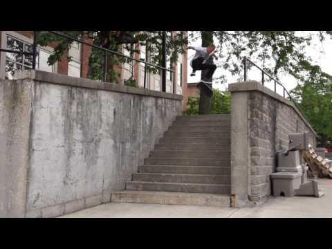 Woody Woelfel big 12 stair kickflip