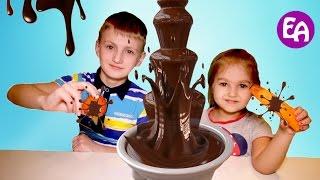 Обычная Еда против Шоколада Челлендж! Шоколадное Фондю Вызов принят! Real Food vs Gummy Food