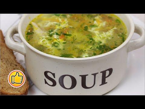 Куриный Суп с Яйцом   Chicken Soup with Egg