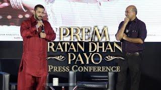 UNCUT - Salman Khan & Sooraj Barjatya | Press Conference | Memories, Untold Stories & Fun moments