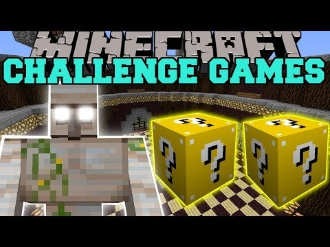 Minecraft: Mutant Iron Golem Challenge Games - Lucky Block Mod - Modded Mini-game video