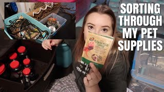 Sorting Through My Mess Of Pet Supplies!   Organizing The Mess + Moving Prep!