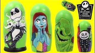 Tim Burton's Nightmare Before Christmas Nesting Dolls Matryoshka TOYS