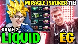 MIRACLE INVOKER! LIQUID vs EG TI8 - THE INTERNATIONAL 2018 - Game 2