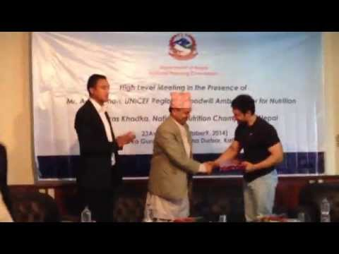Aamir Khan receives Token of Love, Nepal, Kathmandu