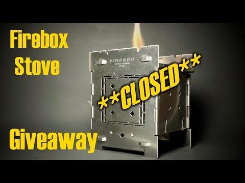 Random Giveaway *CLOSED* Folding Firebox Stove