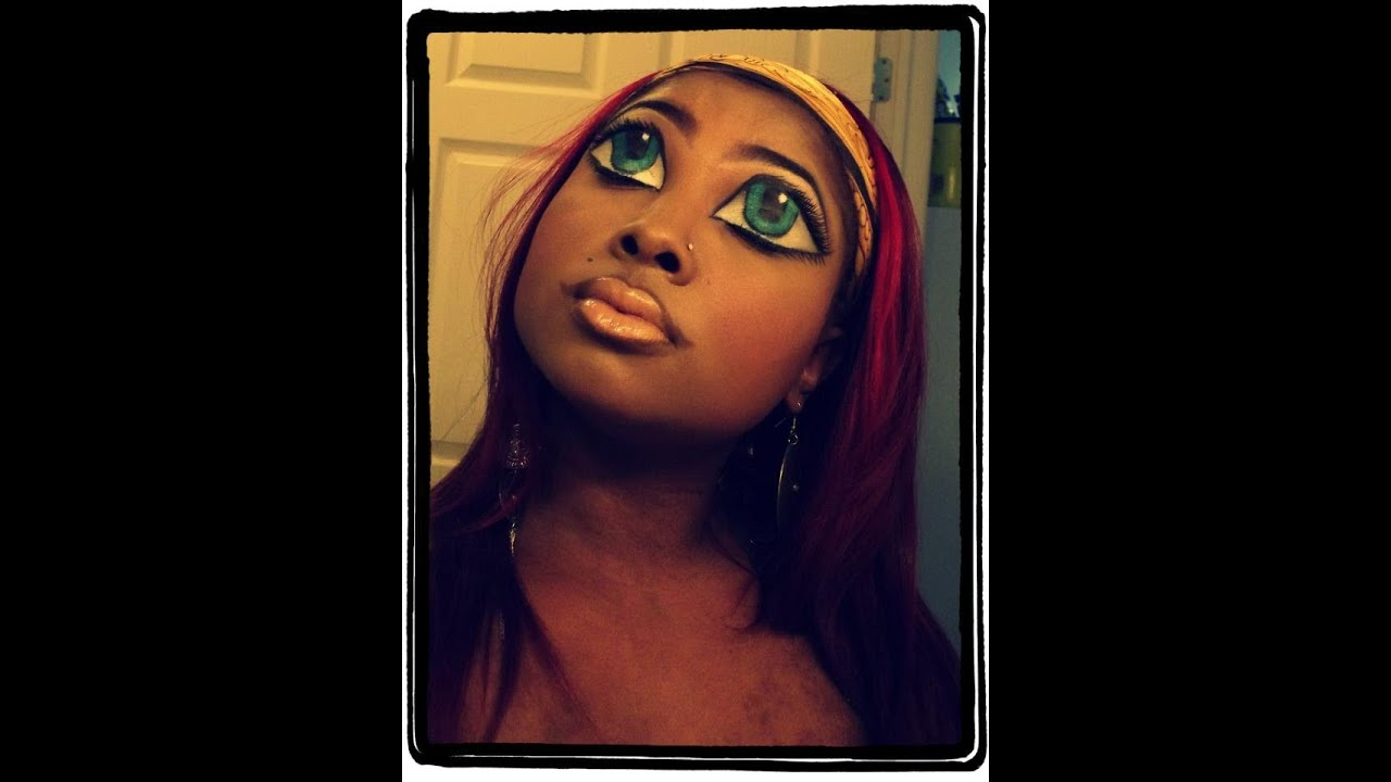 BRATZ DOLLS/DOLL EYES AND LIPS HALLOWEEN MAKEUP TUTORIAL!!! U0026quot;EASYu0026quot; - YouTube