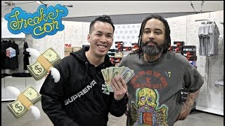 TWOJSKICKS $$ CASH ME OUT + MADE BIG MONEY SELLING IN TRADE PIT @SNEAKERCON CHICAGO 2019
