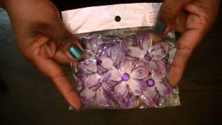 Destash - Michaels Frames, Glitter Flowers and Buttons