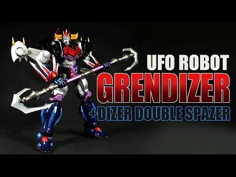 Artstorm Fewture EX Gokin UFO Robot Grendizer plus Dizer Double Spazer diecast robot figure review